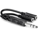 Hosa YMP-234 / Y-SPS-2MFS 1/4 Inch Male TRS Stereo to Dual 3.5mm Female Stereo Y-Cable 6 Inch