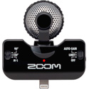 Zoom iQ5B Stereo Microphone with Apple Lightning Connector for iOS Recording - Black