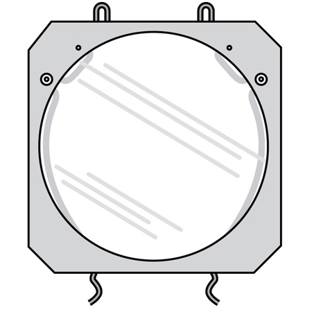 Lowel O1-52 Clear Glass Filter for VIP lights