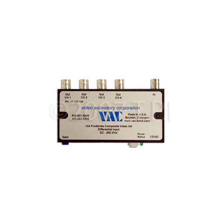 VAC 11-123-104  1x4 Composite Video DA with BNCs