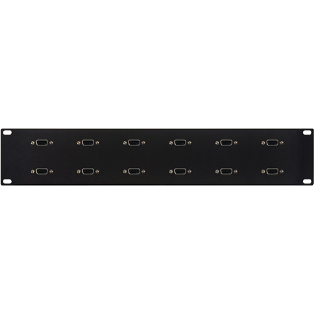 My Custom Shop 12XDB9F/F-2RU 2RU 12-Port RS-422 9-Pin Female-Female Patch Panel