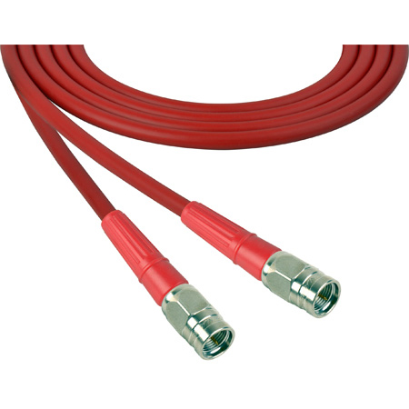 Laird 1505-F-F-10-RD Belden 1505A F-Male to F-Male RG59 Digital Coax Cable - 10 Foot Red