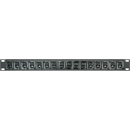 My Custom Shop 16X45 1RU 16-Point RJ45 Cat5 Feed Thru Patch Panel