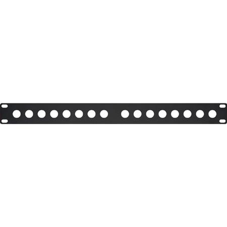 My Custom Shop 16XBPANEL 16-Port Unloaded BNC Rack Panel Black .060 Flanged - 2RU
