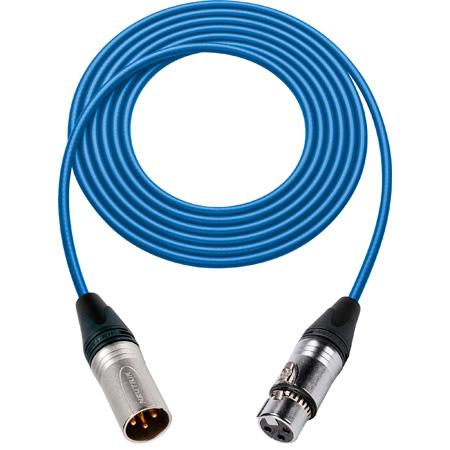 Sescom 1800F-XMF-1-BE Digital Patch Cable Belden 1800F AES/EBU Female XLR to Male XLR High-Flex Blue - 1 Foot