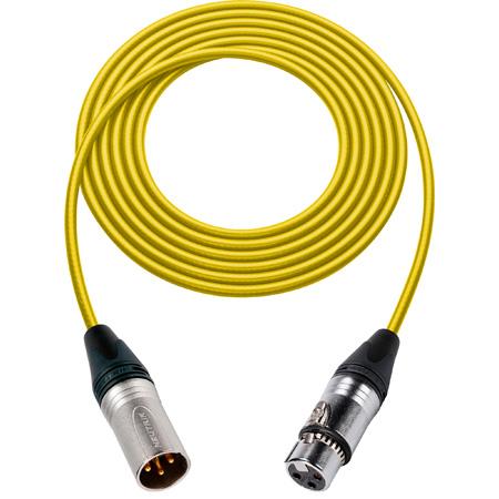 Sescom 1800F-XMF-10-YW Digital Patch Cable Belden 1800F AES/EBU Female XLR to Male XLR High-Flex Yellow - 10 Foot