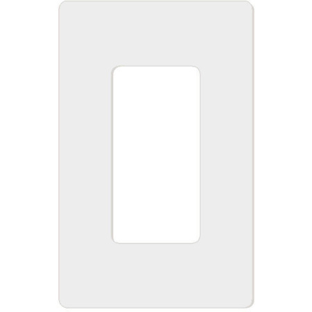 Attero Tech 1-GANG SNAP-IN DECORA-W 1-Gang Screwless Snap-In Decora Wall Plate - White
