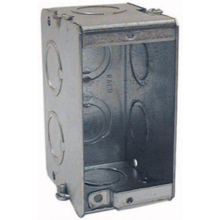 Attero Tech 1-GANG STEEL BACK BOX - Steel New/Old Work Back Box
