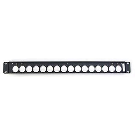 Canare 1U-AS1D 1RU Flat Connector Panel with Neutrik D Type Holes x 16