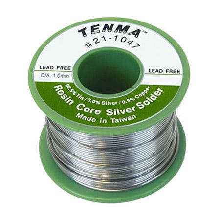 Tenma 21-1047 Lead-Free Rosin Core Solder - Silver - 6 Ounce