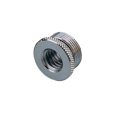 3/8-16 Female to 5/8-27 Male Euro to US Mic Thread Adapter w/Flange