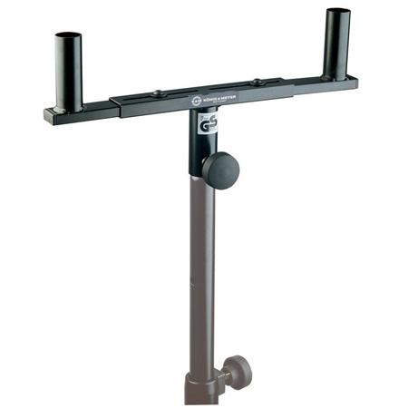K&M 24105 Speaker Mounting Fork Steel Tube Combination For 2 Speakers Black
