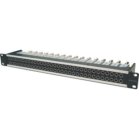 Canare 264U-DVJBW 6X26 4RU 75 Ohm HD-SDI Patchbay Normal Through