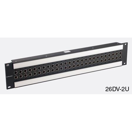 Canare 26DV-2U 2X26 2RU 75 Ohm Digital Video Patchbay (Normal Through)