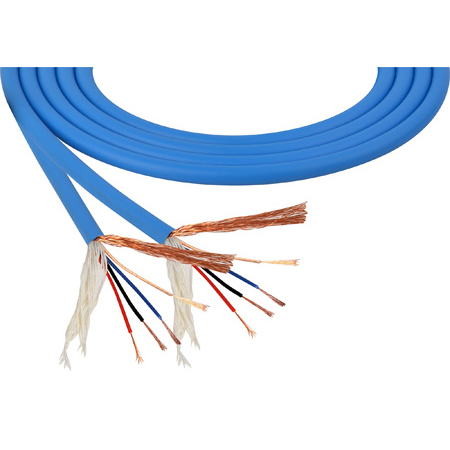 Mogami W2893 4-Conductor 26AWG Mini-Quad Mic Cable Blue per foot