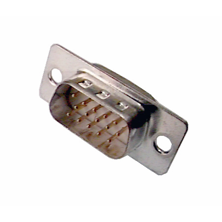 Gold Plated DB-15 High Density Male Insert