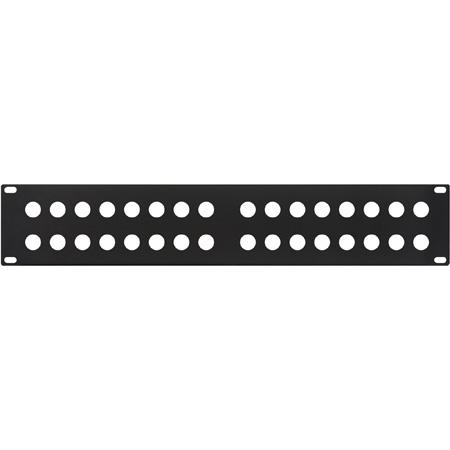 MCS 32XBPANEL 32 Hole BNC Panel Black .060 Flanged