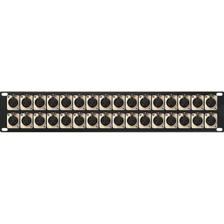 My Custom Shop 32XLRF 32-Port XLR Female Patch Panel w/ Neutrik NC3FD-L-1 Connectors - 2RU