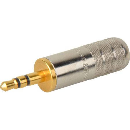 Switchcraft 35HDNAUS 3.5mm Stereo Plug Nickel Handle Gold Finger 0.175 Cable