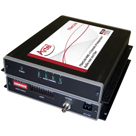 Artel FiberLink 4041-B3S 1310nm Multimode 4-Channel Analog Line Level Audio Box with ST Connectors - Receiver