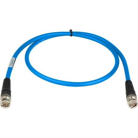 Laird RG6 4694R-B-B-LB-125 12G-SDI/4K UHD Single Link BNC Cable - 125 Foot Light Blue