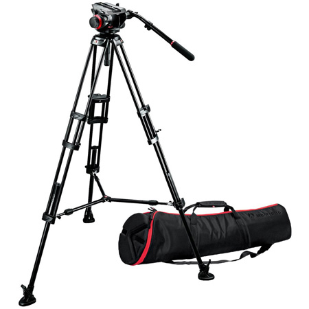 Manfrotto 546B Tripod with 504HD Head/537SPRB Mid-Level Spreader and MBAG100PN