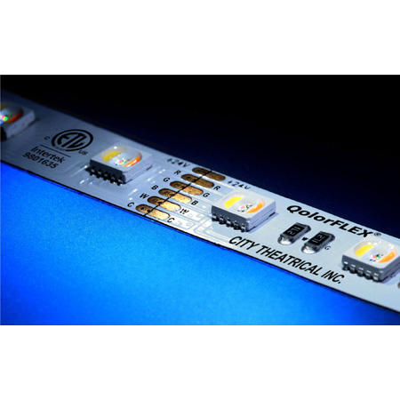 City Theatrical 5050-24-RGBACW-60-5-20-1 QolorFLEX 5-in-1 LED Lighting Tape