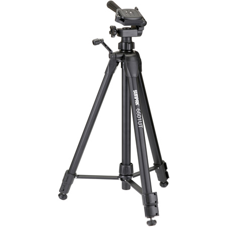Sunpak 620-060 Tripod with 3-Way Panhead Bubble Level and Quick Release