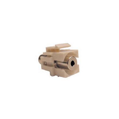 Calrad 72-310-IV 3.5mm Stereo Female to Female Recessed Keystone Jack Ivory