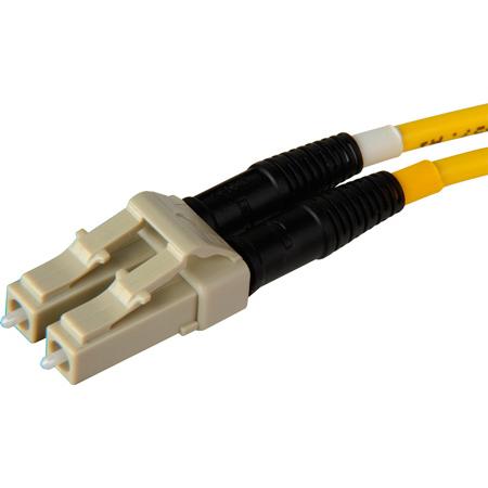 Senko 932-251-2D3 127um Beige MultiMode Duplex LC Fiber Connector 3mm Black Boot