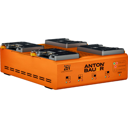 Anton Bauer 8475-0139 Dual Voltage (26V/14V) Multi Chemistry 4-Position Discharger - Gold Mount Plus