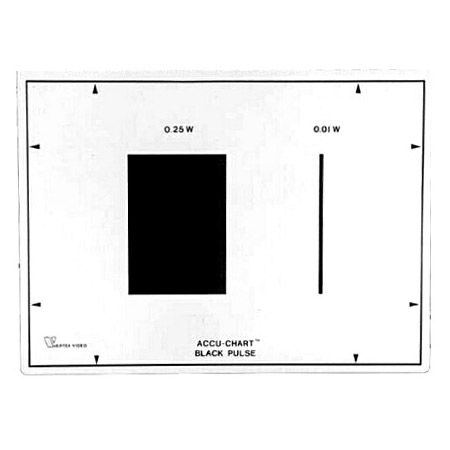 Accu-Chart Black Pulse Test Chart