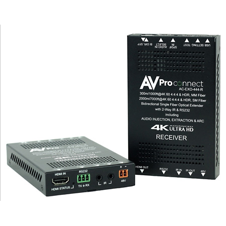 AVPro Edge AC-EXO-444-KIT 4K HDMI Extender via Optical Fiber - Up to 2 km