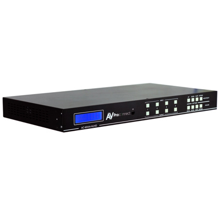 AVPro Edge AC-MX44-AUHD 18Gbps True 4K60 4:4:4 4x4 Matrix w/ Digital Audio & Balanced Audio Out