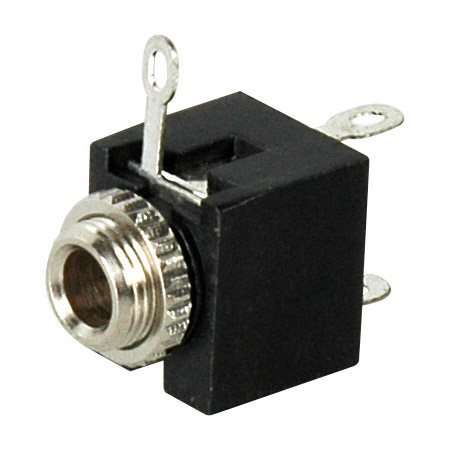 Stereo Mini Jack Chassis Mt Solder