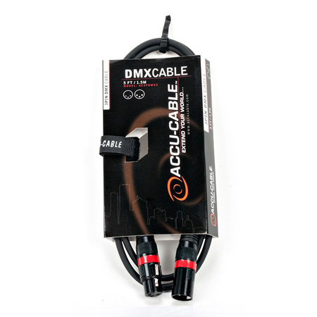 ACCU-CABLE AC3PDMX25 3 Pin DMX Cable - 25 Foot