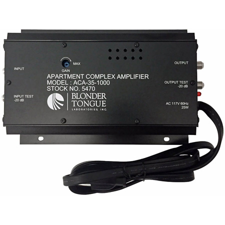Blonder Tongue ACA-35-1000 35dB Apartment Complex Push-Pull RF Distribution Amplifier