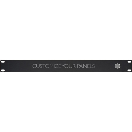 Connectronics ADPAN-1 1RU Custom Engraved Logo Rack Panel