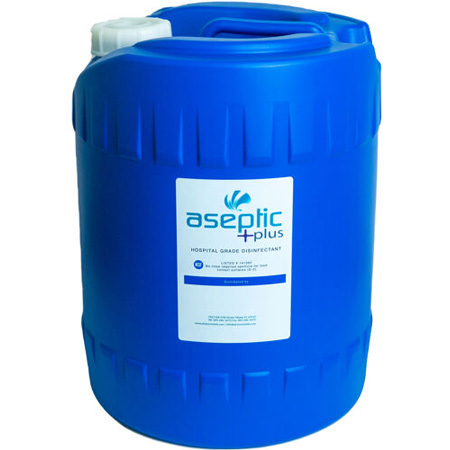 Hanover 5-Gallon Non-toxic Aseptic Plus Disinfectant Solution - PPE