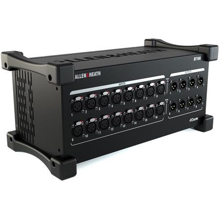 Allen & Heath AH-DT168 16x8 XLR Stagebox with Dante Audio Expander and dLive 96kHz Mic Preamps - 48kHz/96kHz