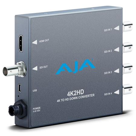 AJA 4K2HD 4K Ultra HD to HD-SDI and HDMI Downconverter