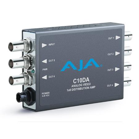 AJA C10DA Analog Video/Tri-Level Sync 1x6 Distribution Amplifier