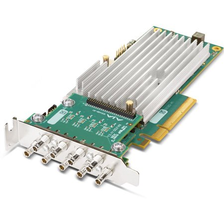 AJA CRV44-BNC-R0 8-Lane PCIe 2.0 - 4-Channel I/O Card  - Tall Bracket - 4K Capable - Fanless Passive Cooling - No Cables