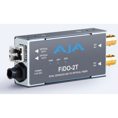 AJA FiDO-2T-MM 2-Channel 3G-SDI to Multi-Mode LC Fiber Transmitter