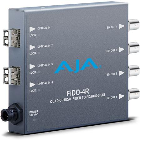 AJA FiDO-4R 4-Channel LC Optical Fiber to 3G-SDI
