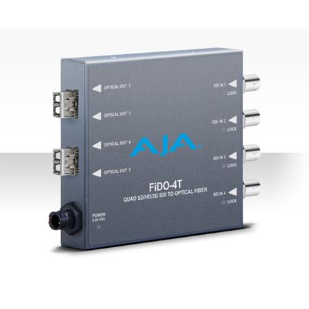 AJA FiDO-4T-X Quad Channel 3G-SDI to LC Fiber Converter - Transmitter