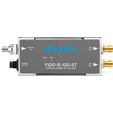 AJA FiDO-R-12G-ST 1-Channel Single Mode ST Fiber to 12G-SDI Receiver