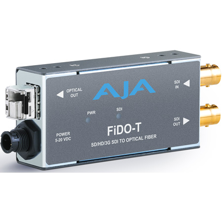 AJA FiDO-T-MM 1-Channel 3G-SDI to Multi-Mode LC Fiber Transmitter