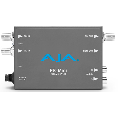 AJA FS-MINI Portable Mini-Converter Supporting Frame Synchronization of Untimed 3G-SDI - HD - and SD Video Signals