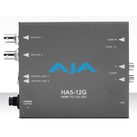 AJA HA5-12G HDMI 2.0 to 12G-SDI Mini-Converter